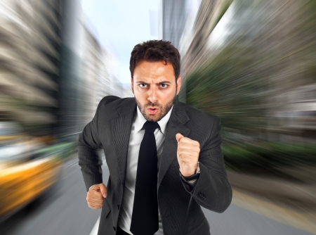 The man speed of business photo