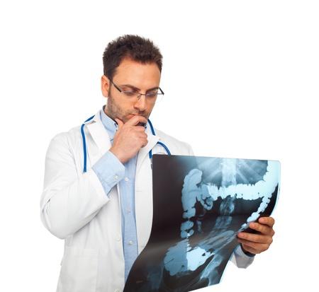colon: Giovane medico uomo con stetoscopio