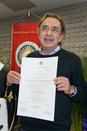 sergio: CASSINO, ITALY - OCT 05: Conferment of the degree to Honoris Causa to Sergio Marchionne at the University of Cassino. October 05, 2007 in Cassino, Italy