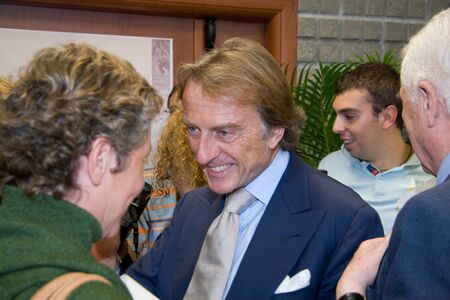 sergio: CASSINO, ITALY - October 05: Montezemolo during the conferment of the degree to Honoris Causa to Sergio Marchionne at the University of Cassino. October 05, 2007 in Cassino, Italy