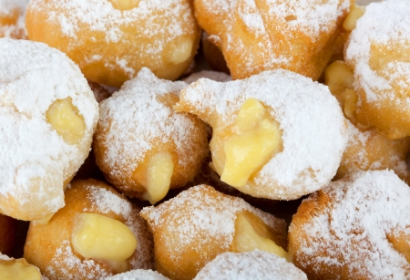 zeppole: Castagnole - Typical italian dessert of carnival