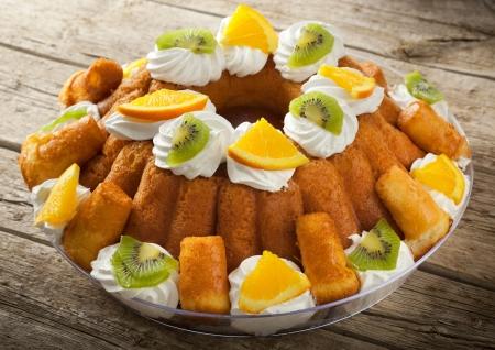 neapolitan: Traditional Italian dessert Babà
