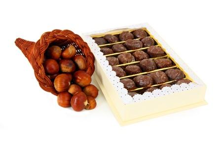 glace: Box of delicious marron glace