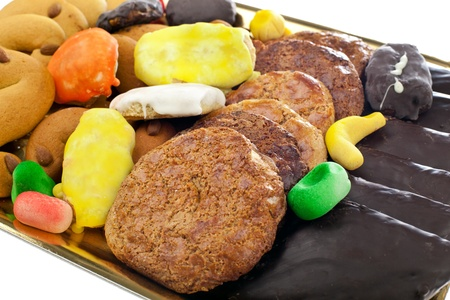 Mix of pastries and cookies in the tray. Stock Photo - 19113044