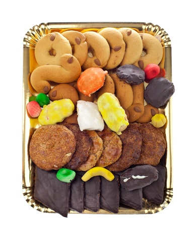 Mix of pastries and cookies in the tray. Stock Photo - 19113033