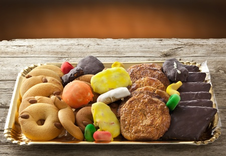 Mix of pastries and cookies in the tray. Stock Photo - 19112987