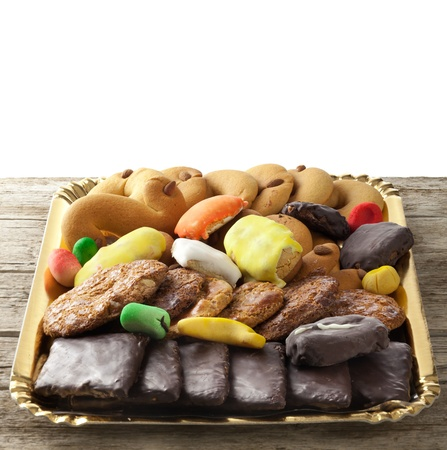 Mix of pastries and cookies in the tray. Stock Photo - 19112934