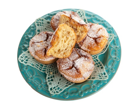 Small pastiere on white background photo