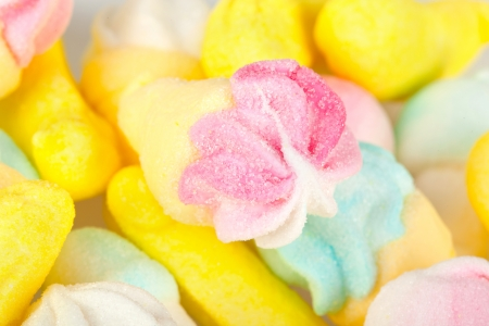 Mixed sweet candies with sugar photo