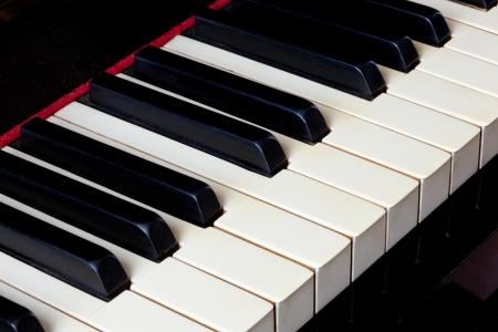 teclado de piano: Macro de teclado de piano de marfil Foto de archivo