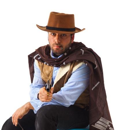 Gunman in the old wild west photo