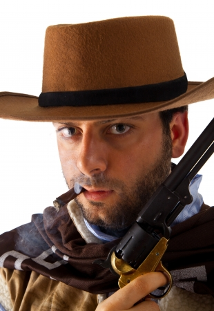 Gunman in the old wild west photo