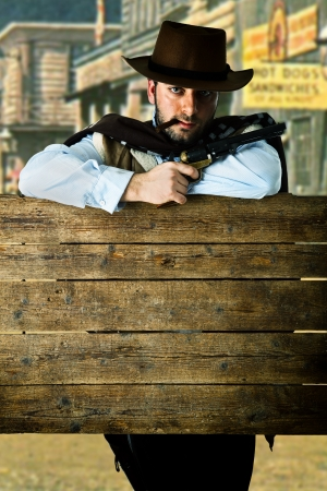 old west: Gunman in the old wild west