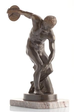 Discus thrower on white background Stock Photo - 20220897