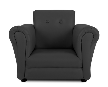 Black armchair isolated on white background Stock Photo - 20471959