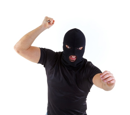 pickpocket: Criminal with balaclava mask Stock Photo