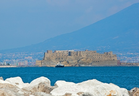 Castel dell Ovo  middle aged fortress in the Bay of Naples
