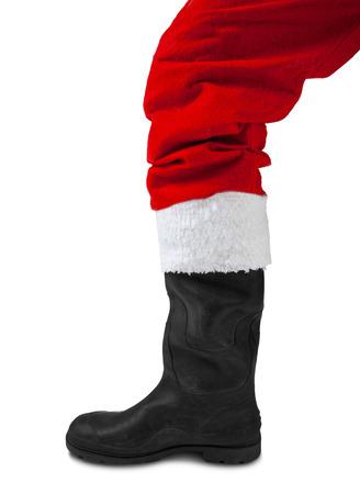 first step: Erster Schritt zur Weihnachten auf wei�em Hintergrund Lizenzfreie Bilder