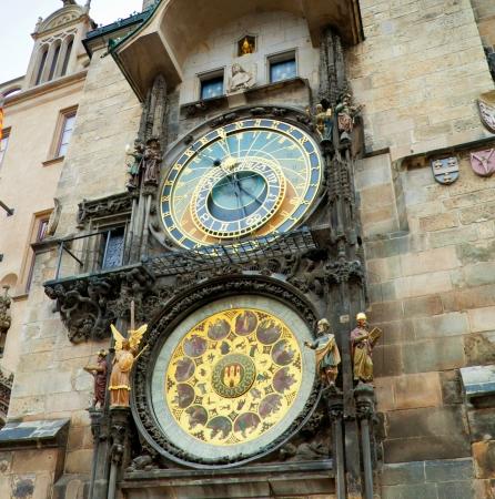 Orloj astronomical clock in Prague in Czech Republic  photo