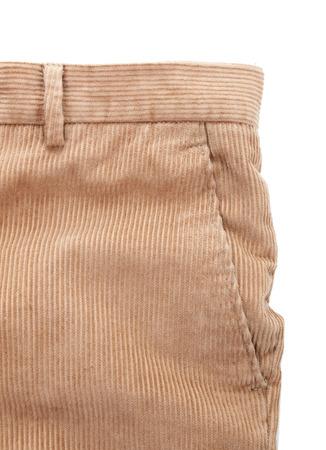 corduroy: Corduroy trousers on white background Stock Photo