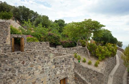 known: Interior details of the Aragonese castle, Ischia Island
