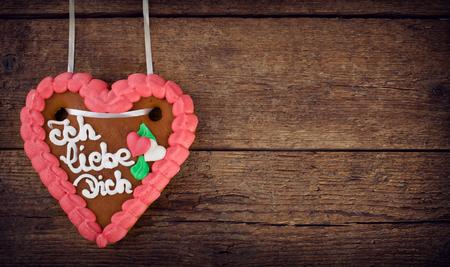 german swiss: Lebkuchenherzen, gingerbread Heart cookie, typical souvenir of German.