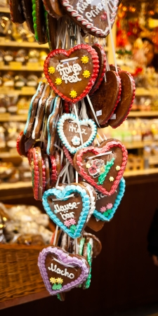 Typical souvenir of Munich, a gingerbread heart. photo