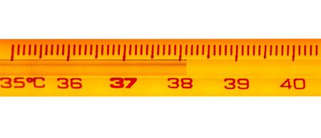 exceeding: Term�metro de mercurio, con temperaturas superiores a 38 grados cent�grados