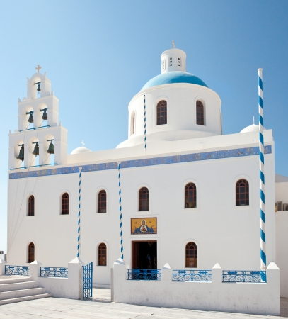 The Church of Panagia of Platsani - Santorini, Greece  photo