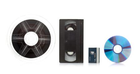 白い背景の上のフィルム転送サービス コンセプト
