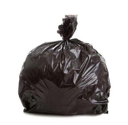Black Rubbish Bag on white background