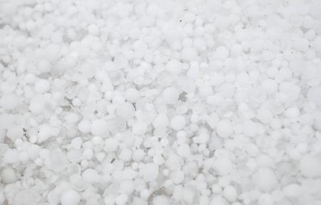sleet: Settled hailstones after a sudden heavy storm  Stock Photo