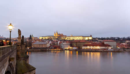 Panorama of Prague, photo by Karluv Most. Editorial
