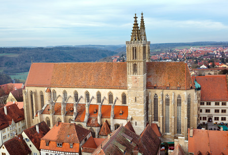 st jamess: St. Jamess Church of Rothenburg ob der Tauber, Germany Stock Photo