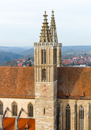 st jamess: St. Jamess Church of Rothenburg ob der Tauber, Germany Stock Photo
