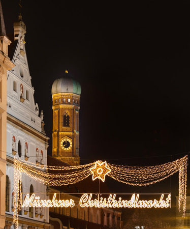 The Munich markets are breathtakingly beautiful with fairy lights lining the streets and illuminated Christmas trees and stars dotted around the marketplace. photo