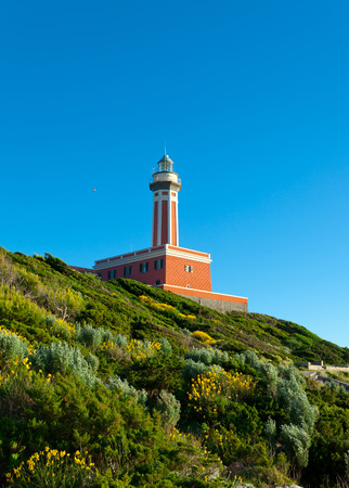 Lighthouse  Faro di Punta Carena , Anacapri, Capri island, Italy  photo