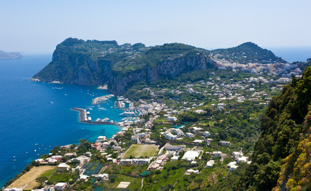 Capri island, Campania, Italy  Capri is an island in the Tyrrhenian Sea near Naples  photo