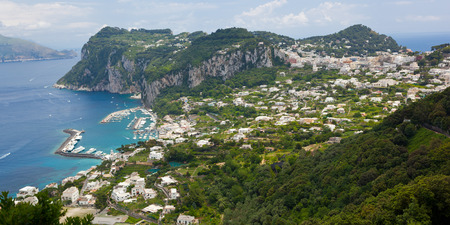 Capri island, Campania, Italy  Capri is an island in the Tyrrhenian Sea near Naples  photo