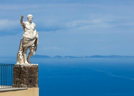 Statue of Augustus in Anacapri, Capri island, Italy photo