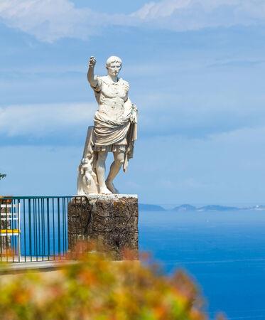 augustus: Statue of Augustus in Anacapri, Capri island, Italy Stock Photo