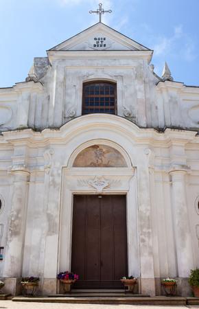 san michele: San Michele (Saint Michael) church in Anacapri, Capri, Italy.