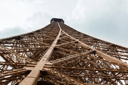 Detail from the bottom of the Tour Eiffel, Paris. photo
