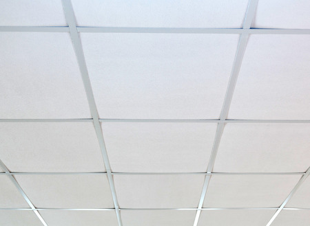 in ceiling: Texture of white panels for suspended ceiling.
