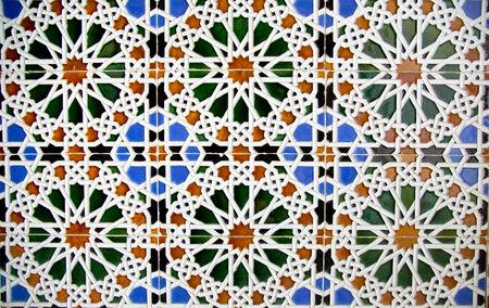 Nice detail of an islamic mosaic floor. photo
