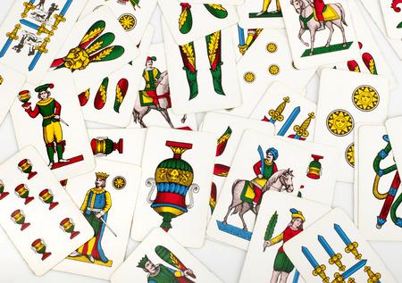 jeu de carte: Jeu de cartes avec des cartes napolitaines typiques de Naples.