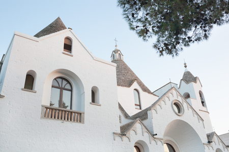 lapidary: St. Anthony's church. Tourist attraction of Alberobello Stock Photo