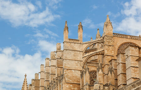 Close up of Palma de Majorca Cathedral, Balearic Islands, Spain. photo
