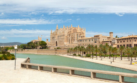 Majorca La seu Cathedral and Almudaina from Palma de Mallorca in Spain photo