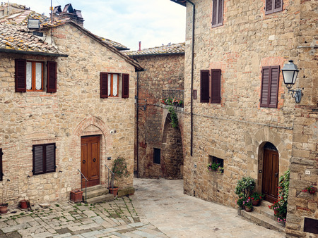 Old medieval small town Monticchiello in Tuscany, Italy.
